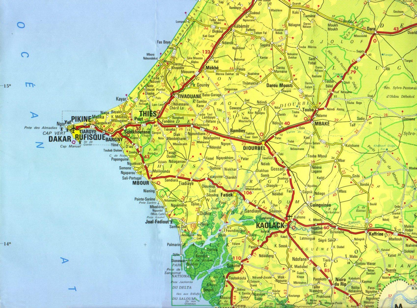 Carte Senegal Cap Vert.Les Differentes Regions Du Senegal